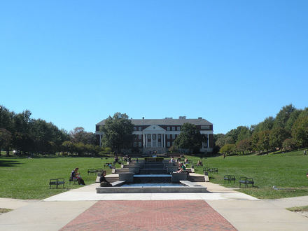 This a great shot of McKeldin Mall, located at the center of University of Maryland, College Park. It is one of the largest academic malls in the US and has a large fountain on the eastern side of the mall.