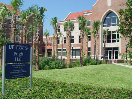 This is Pugh Hall at the University of Florida. It was completed in 2008 and houses the Department of Languages, Literatures and Cultures.