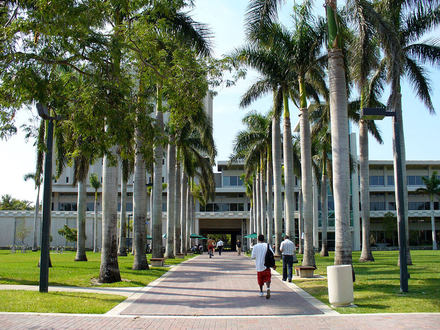 This is a great shot of the University of Miami campus. There are over 16,000 students enrolled in the school located in Coral Gables.
