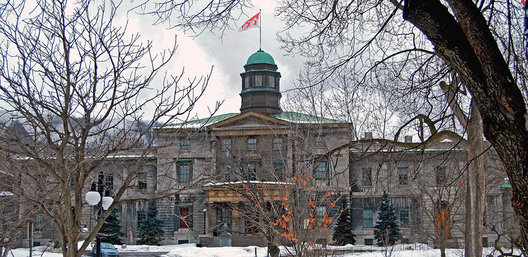 This is the Arts Building of McGill University. It was completed in 1843 and is the oldest building on the McGill campus