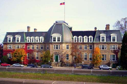 This is the Sir Howard Douglas Hall at the University of New Brunswick (Fredericton Campus). It is designated as a National Historic Site of Canada.