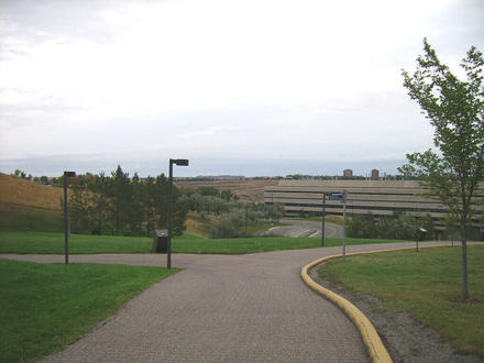 This is a shot of the pathway to the entrance of the University of Lethbridge