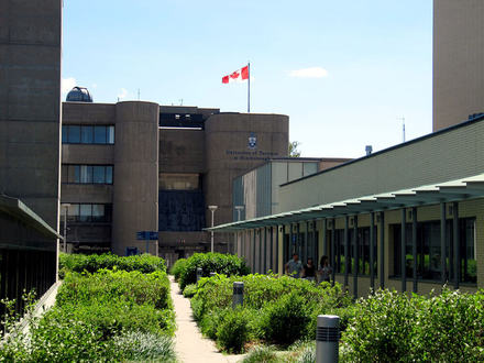 This is a great view of the Science Wing at the University of Toronto Scarborough Campus.