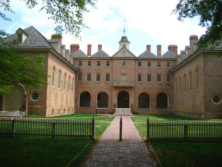 This is the Wren Building at the College of William and Mary. This buildling was completed in 1700 and it is the oldest academic buildling in the United States.