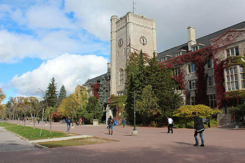 This is Johnston Hall at the University of Guelph. It is named after William Johnston and is residence for over 300 students each year.