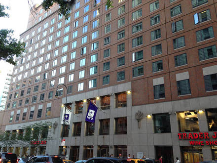 This is a shot of Palladium Hall at the New York University. It is a fairly large student residence and is capable of accomodating approximately 1,000 students each year.
