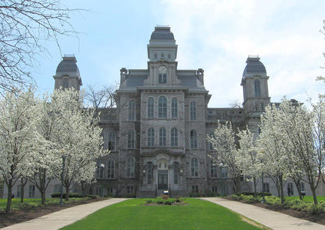 This is the Hall of Languages at Syracuse University. It was the first building to be built on the campus and initially contained the entire university.
