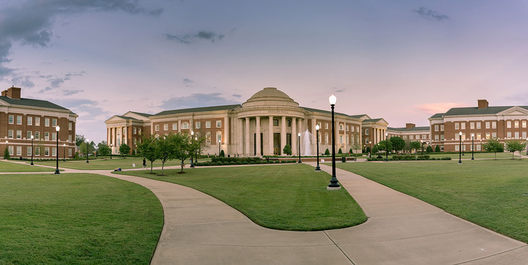 This is a great shot of Shelby Hall at the University of Alabama. This building is home to the chemistry department and various science facilities at the university.